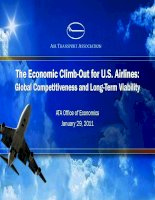 The Economic Climb Out for U.S. Airlines: Global Competitiveness and Long Term Viability air transportation association (2011)