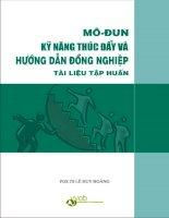 Tai lieu tap huan ky nang huong dan va thuc day dong nghiep