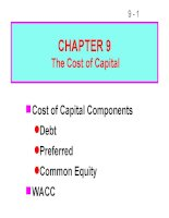 bài giảng chapter 9 the cost of capital