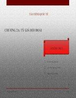 tài chính quốc tế chương 2a: tỷ giá hối đoái