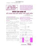 Khảo sát hàm số để chứng minh bất đẳng thức nhiều biến