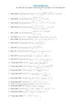 Chuyên đề PT BPT mũ-logarit