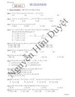 Đề tự ôn tập toán 6 học kì I
