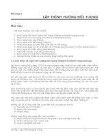 Java cơ bản  Chương I: Lập trình hướng đối tượng