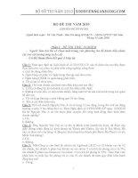 170 câu trắc nghiệm, 20 câu tự luận nghiệp vụ tín dụng