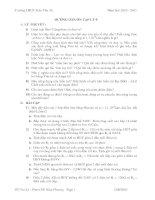 Đề cương ôn tập HK 1 Vật lý 9