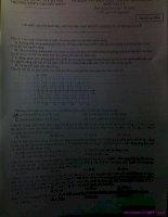 Đề thi thử đại học môn Lý trường ĐH KHTN HN năm 2011, có đáp án