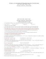 BAI TÂP TRẮC NGHIÊM LÝ 11 TOÀN TẬP