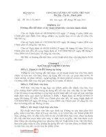 Thông tư số 01/2011/TT-BNV về Hướng dẫn thể thức và kỹ thuật trình bày văn bản hành chính