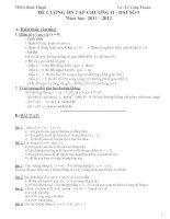 Đề cương ôn tập chương II- đại số 9