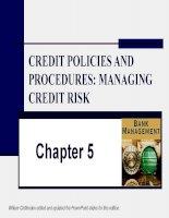 slike bài giảng quản trị ngân hàng chương 5 l ending policies and procedures - managing credit risk