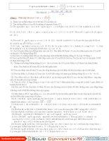 Tổng hợp các câu hỏi về HS  bâc 1- bậc1