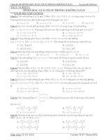 Chuyên đề TRẮC NGHIỆM OXYZ (2)