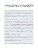 Những lưu ý QUAN TRỌNG khi làm bài thi trắc nghiệm tốt NGHIỆP TRUNG học PHỔ THÔNG