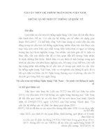TÁI CẤU TRÚC HỆ THỐNG NGÂN HÀNG VIỆT NAM:  NHỮNG ẨN SỐ NHÌN TỪ THÔNG LỆ QUỐC TẾ