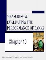 slike bài giảng quản trị ngân hàng chương 10measuring and evaluating the performance of banks and their principal competitors