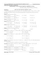 Chuyên đề TRẮC NGHIỆM OXYZ (1)