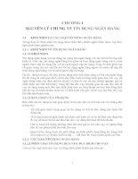 Chương  1 nguyên lý chung về tín dụng ngân hàng