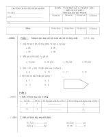 Bộ đề thi HKI - Lớp 3