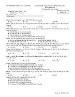 Đề kiểm tra HKI môn Vật lý 9 NH 2011-2012 (Sở GDĐT Tây Ninh)