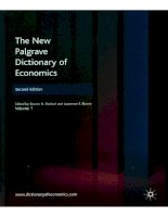 the new palgrave dictionary of economics (durlauf and blume)