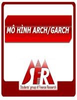 slide mô hình arch - garch_2013mô hình arch - garch