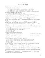 Ngân hàng câu hỏi trắc nghiệm chương Đo điện