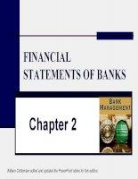 slike bài giảng quản trị ngân hàng chương 2 financial statements of bank