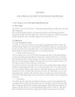 CHỦ đề 8 các CÔNG cụ VAY nợ của NGÂN HÀNG THƯƠNG mại
