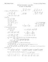 Đề cương ôn tập chương I- đại số 9(nâng cao)