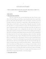 SKKN MỘT VÀI BIỆN PHÁP GIÁO DỤC ĐẠO ĐỨC HỌC SINH CÁ BIỆT CỦA LỚP CHỦ NHIỆM