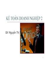 Bài giảng kế toán doanh nghiệp 2
