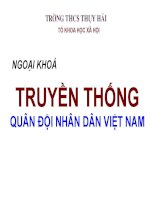 Ngoại khóa truyền thống Quân đội nhân dân Việt Nam