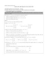 BT Chuyên đề khảo sát và vẽ đồ thị của hs