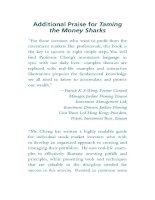 cheng - taming the money sharks; 8 super-easy stock investment maxims (2013)