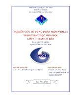 Nghiên cứu sử dụng phần mềm violet trong dạy và học hóa học lớp 11, ban cơ bản