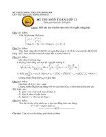 Đề thi Olympic môn toán 11(tham khảo)