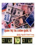 Thuyết trình quản trị tài chính quốc tế
