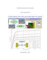 Công nghệ chế tạo linh kiện điện tử nanô