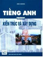 Song ngữ Anh Việt - Tiếng Anh trong kiến trúc và xây dựng  James Cumming