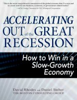 rhodes & stelter - accelerating out of the great recession; how to win in a slow-growth economy (2010)