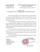 Chuyển thông báo Nghĩ Tết Dương Lịch 2012 của UBND Huyện