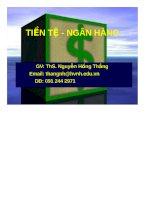 Bài giảng tiền tệ ngân hàng