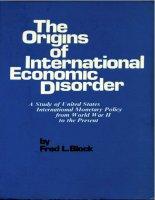 block - the origins of international economic disorder (1977)