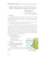 Tìm hiểu hiện trạng khai thác và sử dụng đất khu vực Lê Minh Xuân - Phạm Văn Hai, TPHCM