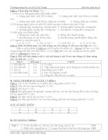 tổng hợp các đề kiểm tra 45 phút môn sinh học lớp 8 học kỳ i