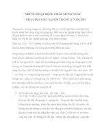 Công đoàn - Chào mừng ngày nhà giáo Việt Nam 20-11