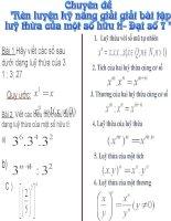 Chuyên đề Đại số 7: Rèn kĩ năng giải bài tập lũy thừa của một số hữu tỉ