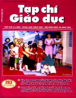 Tạp chí giáo dục ( Số 263 kì 1 tháng 6/2011 )