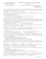 đề thi thử đại học môn lí trường THPT Chuyên Thái Bình
